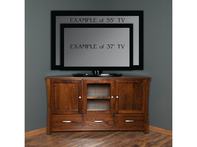 Abalone Avery 36in Corner TV Stand - D