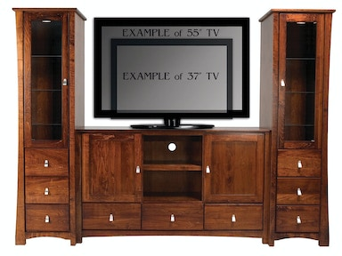 Abalone Avery Entertainment Wall-36in Center - D