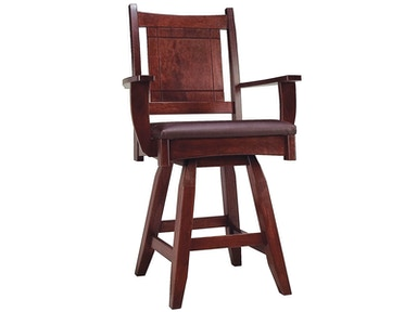 Abalone Fig 24in Arm Stool - Swivel