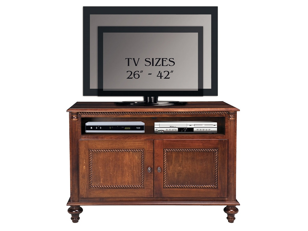 Foster Home Entertainment 44in Tv 2 Wood Doors Ff851 Borofka S Furniture Woodbury And