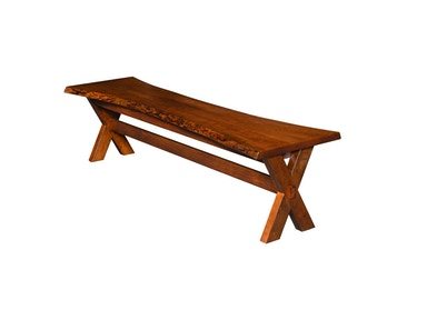 County Line Flint Live Edge Bench