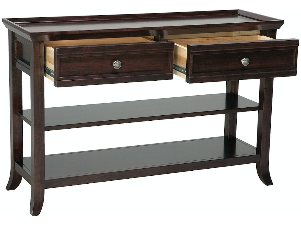 Mystic creek living room 2 drawer 2 shelf console table mc3121 mystic creek 2 drawer 2 shelf console table mc3121 geotapseo Images