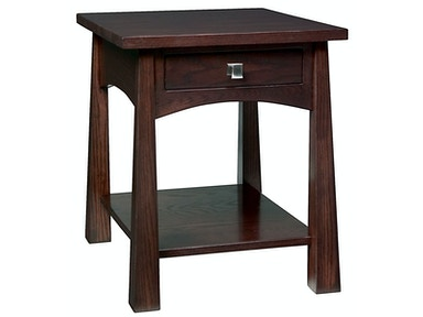 Precision Crafted Flush 1 Drawer End Table