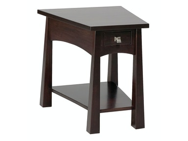 Precision Crafted Flush Wedge 1 Drawer End Table