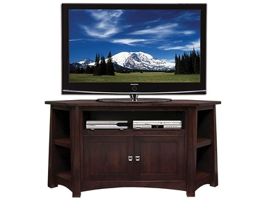 Precision Crafted 61in Corner TV-2 Wood Doors