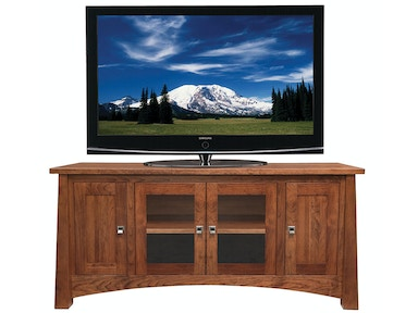 Precision Crafted 61in TV-4 Doors (2glass-2wood)