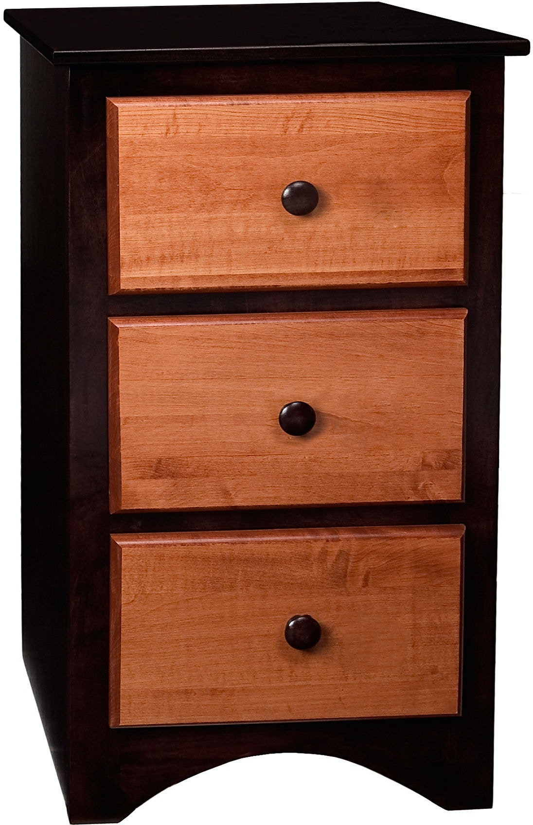 Narrow Nightstand bridgeport bedroom symmetry 3 drawer narrow nightstand sy2931
