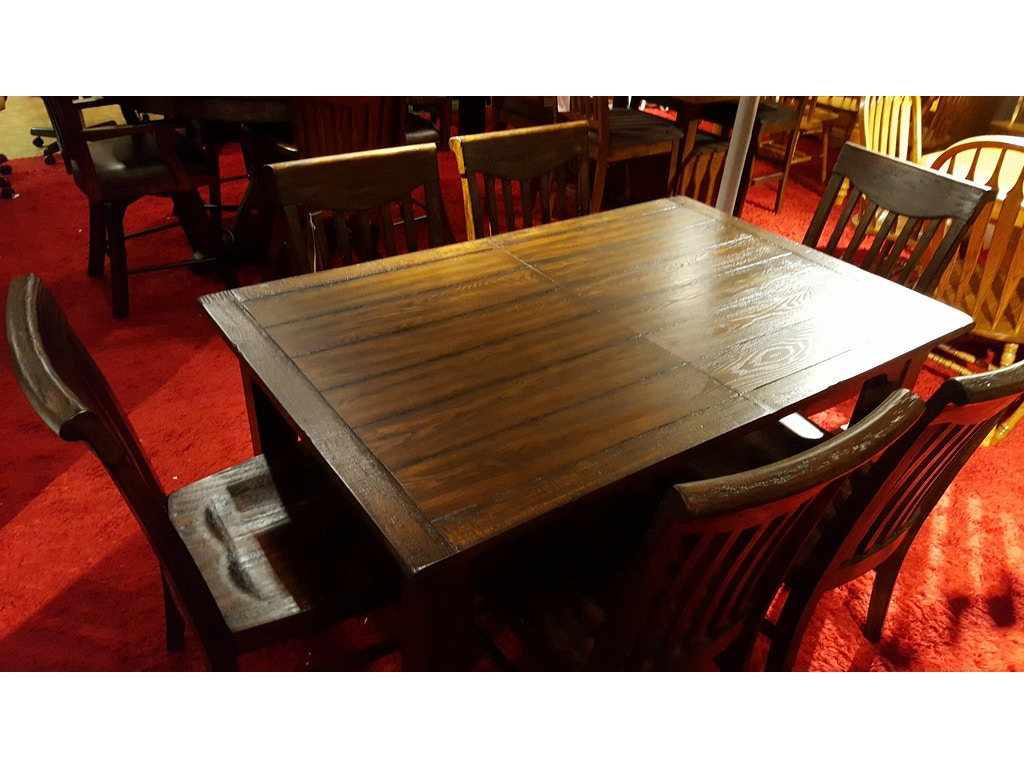 Dining Room Sets Erie Pa Eci Rustic Dinning Set With 6 Chairs 0 1475