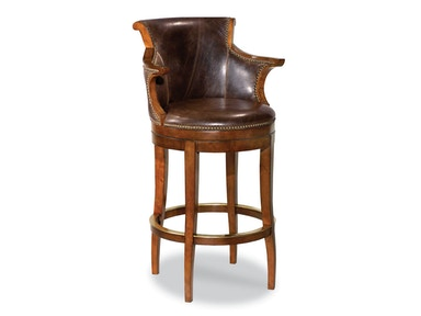 Woodbridge Swivel Leather Barstool WBR.7023-02
