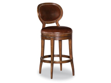 Woodbridge Oval Back Armless Swivel Bar Stool WBR.7093AL-11