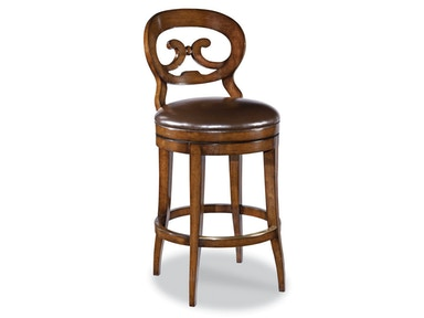 Woodbridge Biedermeier Armless Swivel Bar Stool WBR.7120-11