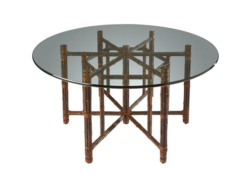 Black bamboo dining table - Mcguire Hexagonal Dining Table On Black Bamboo Base Mcg Ba 17