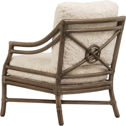 McGuire Living Room Rattan Tar Lounge Chair MCG A 43 Studio 882 Glen M