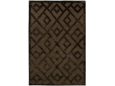 882 Rugs Laced Diamond Mocha S882-16