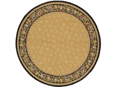 882 Rugs Rennes Gold Black - Round S882-104