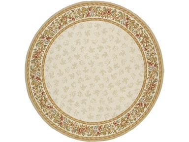 882 Rugs Rennes Ivory Ivory - Round S882-107
