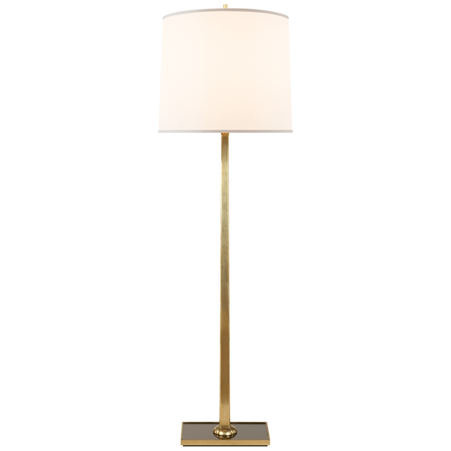 Visual Comfort Lamps And Lighting Petal Floor Lamp In Soft Brass With Bronze Mirror Base And Silk