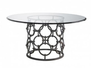 Lillian August by Hickory White Seaton Dining Table with Glass Top LA13008-01_GL60