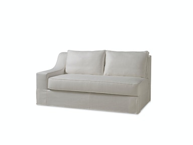 Milling Road by Baker LAX Skirted Sectional One Arm Loveseat MR7221LO