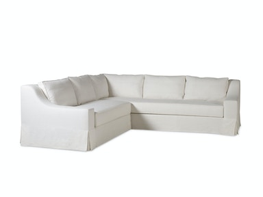 Milling Road by Baker LAX Skirted Sectional One Arm Sofa MR7221SO