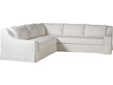 Milling Road by Baker LAX Skirted Sectional One Arm Chaise MR7221CS