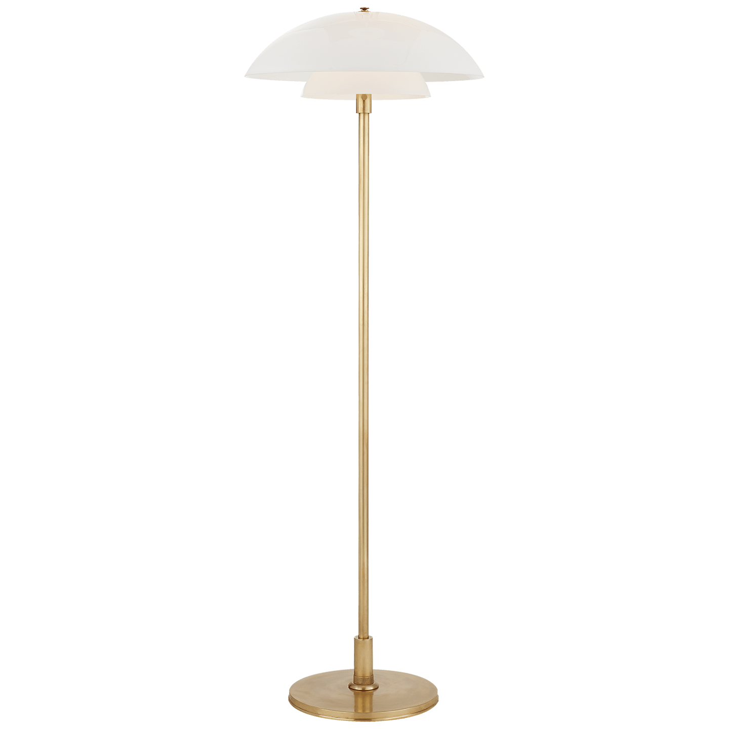 Visual Comfort Lamps And Lighting Whitman Floor Lamp In Hand Rubbed Antique Brass With White Glass