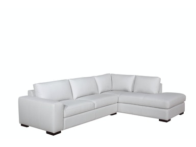 Leather Italia Vestige White Two Piece Sectional 1669-6201