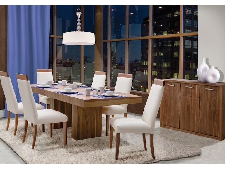 Shermag Dining Room Walnut Pedestal Collection