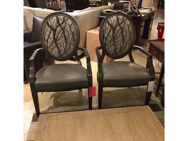 Hickory Park Furniture Outlet Dining Room Pair of Arm Chairs by Hancock and Moore