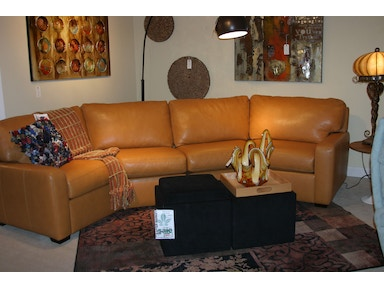 American Leather by Reflections Living Room Leather Sectional by America Leather