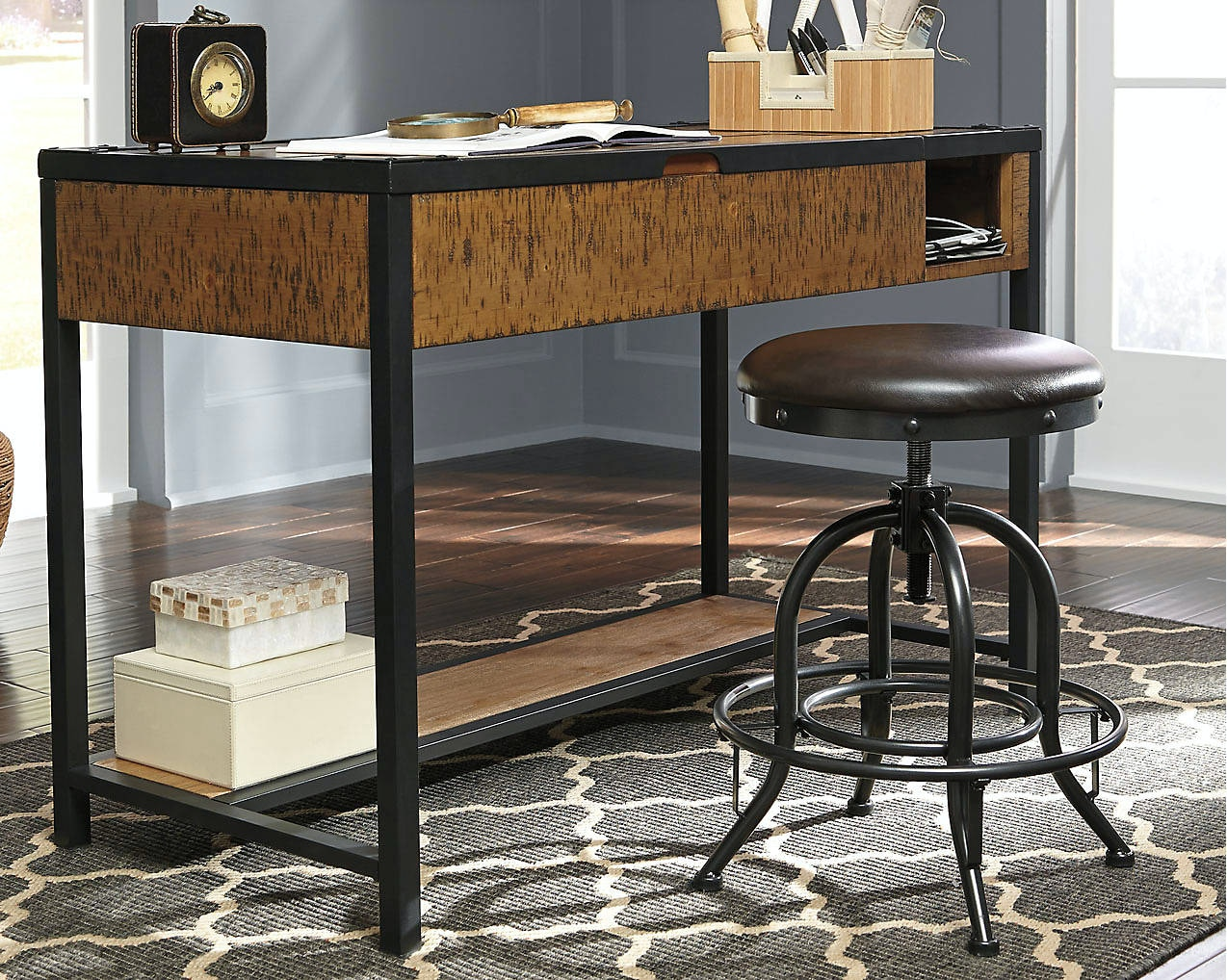Simply Home By Lindyu0027s Furniture Home Office Kalean Lift Top Desk By Ashley  Furniture H817 29 | Hickory Furniture Mart | Hickory, NC