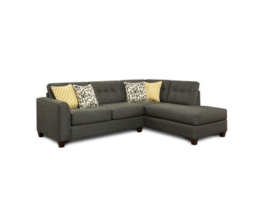 Fusion Raven 2 Piece Sectional G65484