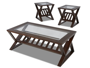 Klaussner Reece Cocktail Table and 2 End Tables 525678