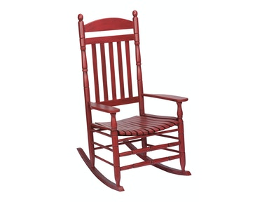 Hinkle Chair Company Riverside Antique Red Rocker 538574