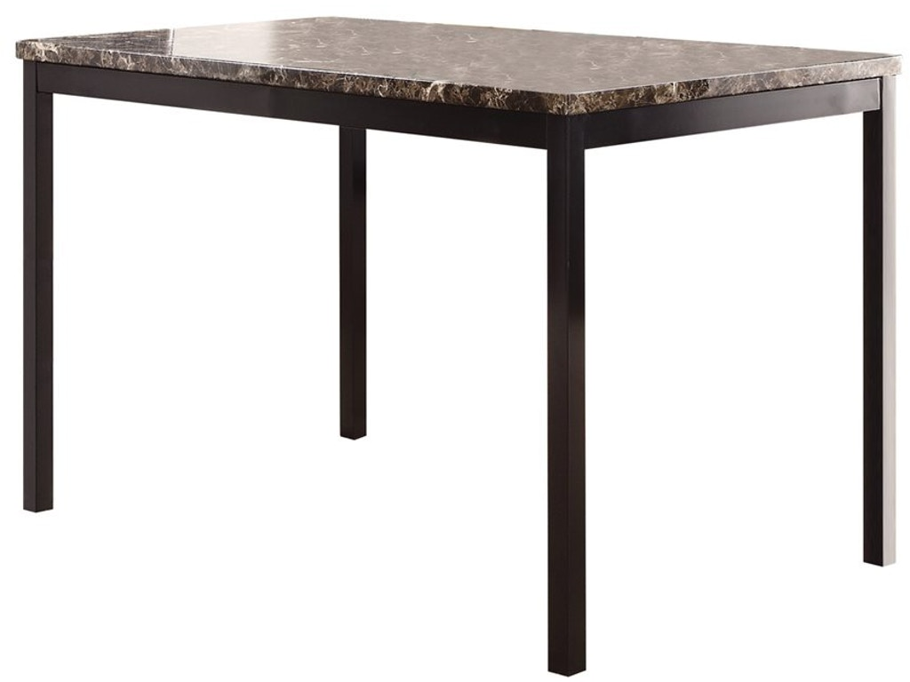 Horizon Dining Room Tempe Table With Faux Marble Top 495598 At Kittles Furniture