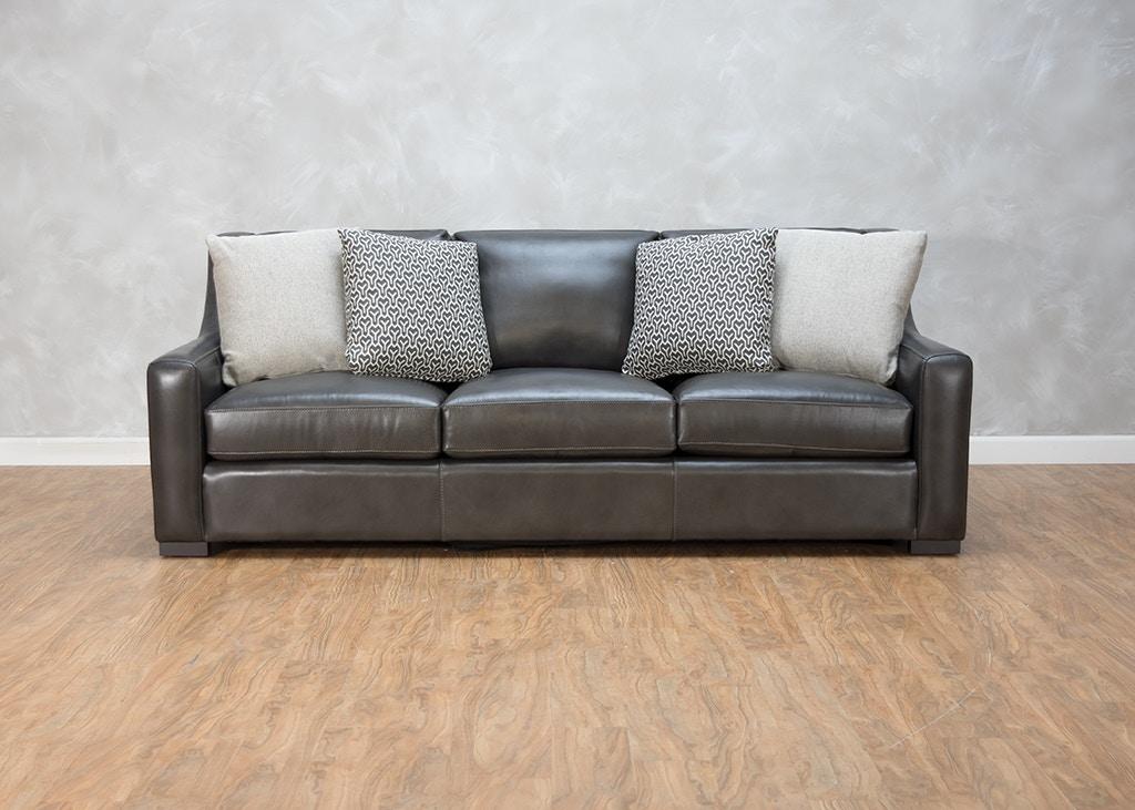 Charming Bernhardt Germain Leather Sofa 552407