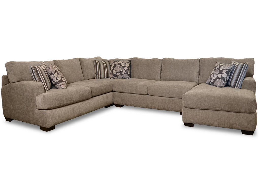 Chesapeake living room josephine 4 piece sectional g62210 for 4 piece living room furniture