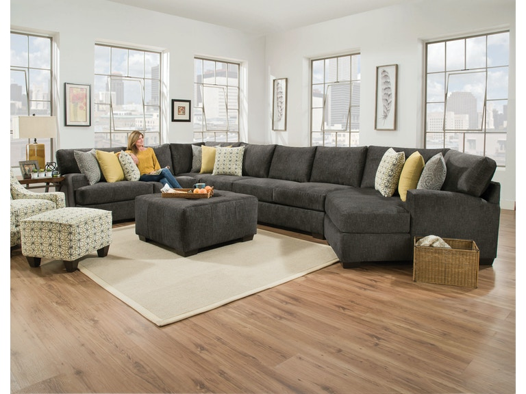 Corinthian living room alton 2 piece sectional alternate configuration 3 g70524 kittle 39 s for Living room furniture configurations