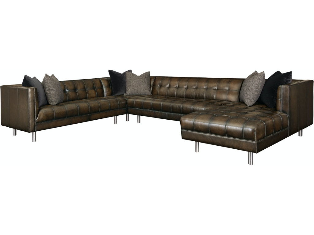 Bernhardt Dunhill 4 Piece Leather Sectional G70967