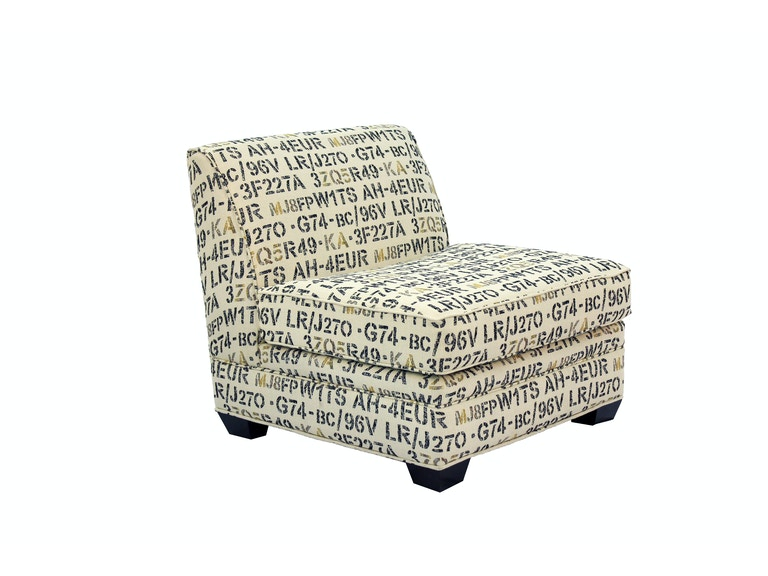 Jonathan Louis International Burton Armless Accent Chair 472295 - Jonathan Louis International Living Room Burton Armless Accent