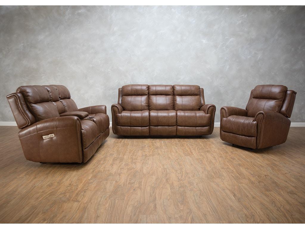 Bassett Living Room Marquee Reclining Sofa Power2 549284 ...