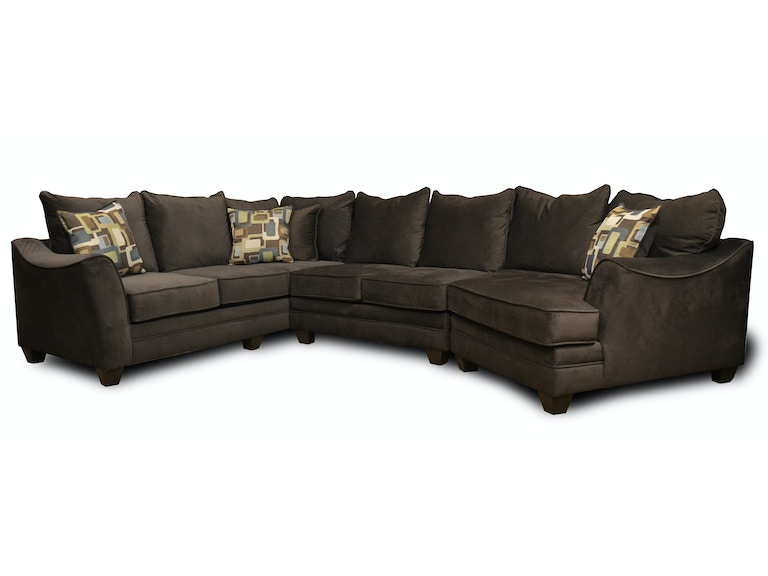 American Upholstery Allentown 3 PC Sectional G66565