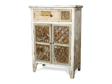 New Pacific Direct Lourdes White Cabinet 503986