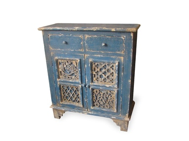New Pacific Direct Lourdes Blue Cabinet 503985
