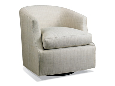 Hickory White Swivel Glider Chair 546372