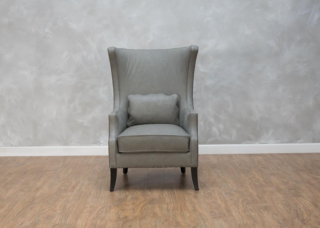Lovely Bernhardt Mona Leather Chair 552002