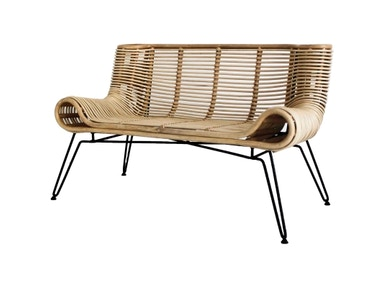 New Pacific Direct Botega Rattan Bench 546045