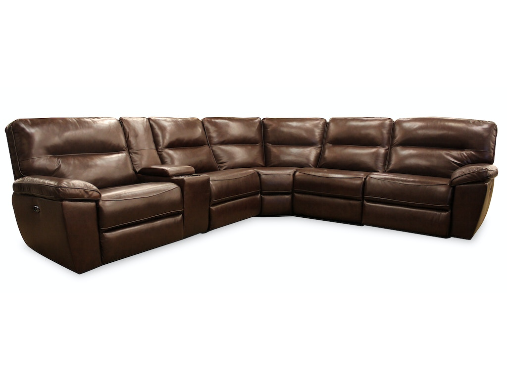 Forte Living Room Ronak 6 Piece Reclining Sectional G65287