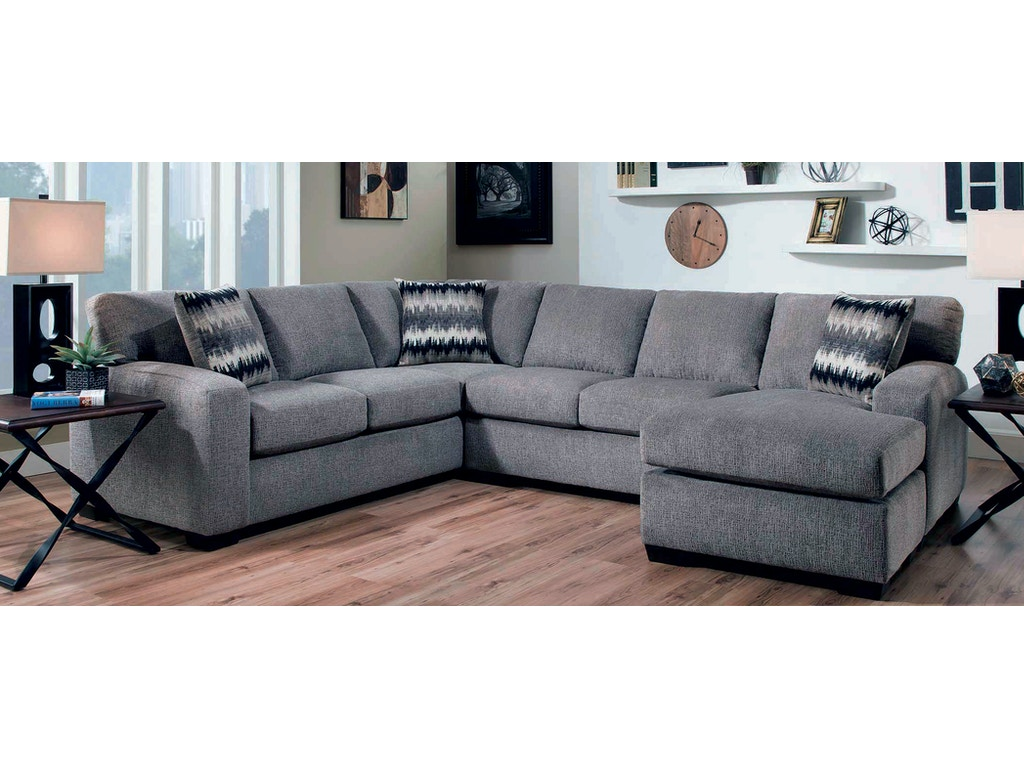 Upholstered Living Room Furniture American Upholstery Living Room Mitchell 2 Piece Sectional G68627