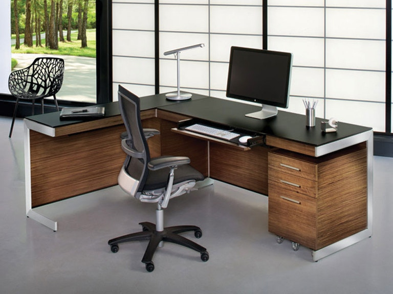 "BDI Sequel 60"" Desk with Return and Back Panel G68351"